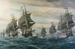 Battle of Virginia Capes by V. Zveg