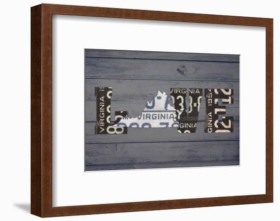 VA State Love-Design Turnpike-Framed Giclee Print