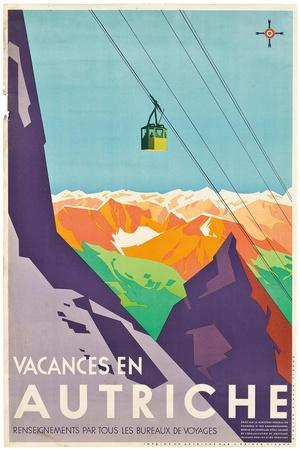vacances autriche u0027Vacances en Autricheu0027 - Poster advertising vacations in Austria