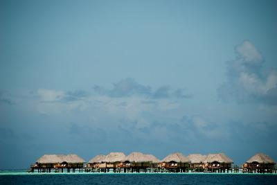 Vacation Cottages over Water on Bora Bora-Karen Kasmauski-Photographic Print