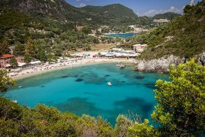 Vacation Resort of Paleokastritsa on the Ionian Island, Corfu, Greece-Brian Jannsen-Photographic Print