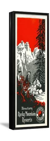 Vacation Spots in the Rockies Brochure, 1928--Framed Stretched Canvas Print