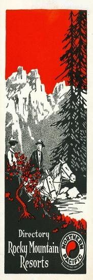 Vacation Spots in the Rockies Brochure, 1928--Giclee Print