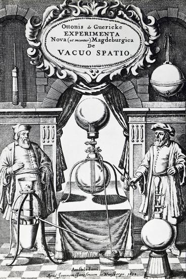 Vacuum Creation Pump on Title Page of Experimenta Nova (Ut Vocantur) Magdeburgica De Vacuo Spatio--Giclee Print