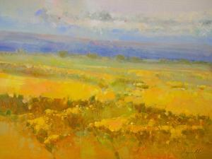 Field of Yellow Flowers by Vahe Yeremyan