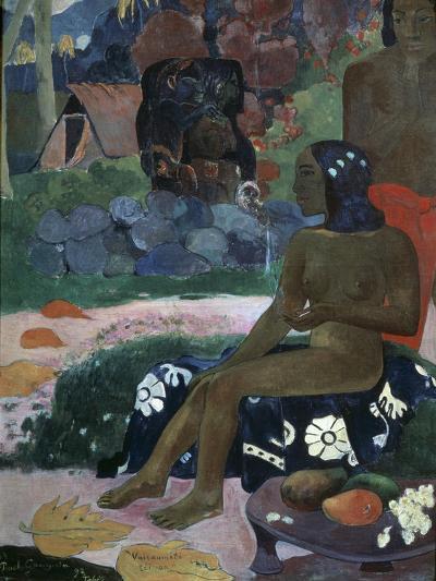 Vairaumati Tei Oa (Her Name Is Vairaumat), 1892-Paul Gauguin-Giclee Print