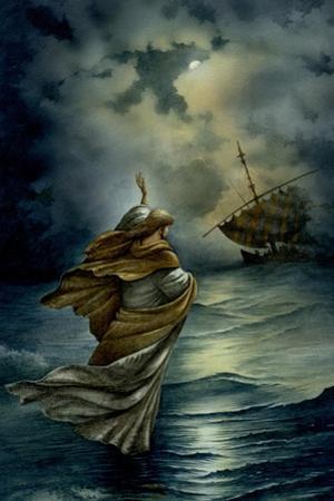 Jesus Walking on Water by Val Bochkov