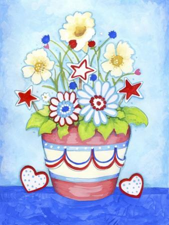 Red Flower Pot by Valarie Wade