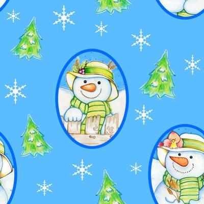 Snowman Pattern 1 by Valarie Wade