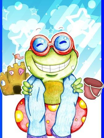 Summer Froggy by Valarie Wade
