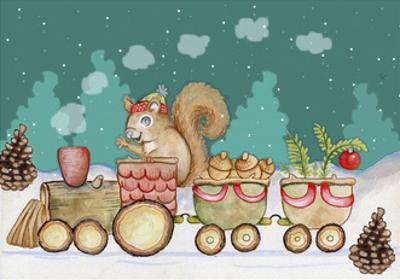 Woodland Express by Valarie Wade