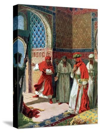 "Valda's Painting of Abu Abdullah known as ""The Unfortunate,"" the Last Moorish King of Grenada"