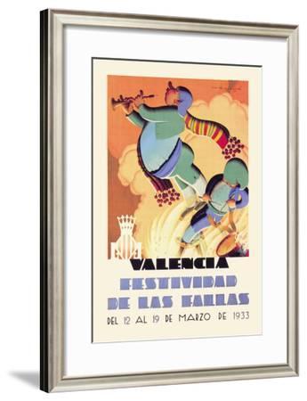 Valencia Festividad-Molla-Framed Art Print
