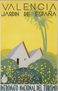 Valencia Jardn De Espana Poster by Jose Renau