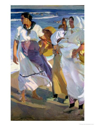 Valencian Fisherwomen, 1915-Joaqu?n Sorolla y Bastida-Giclee Print