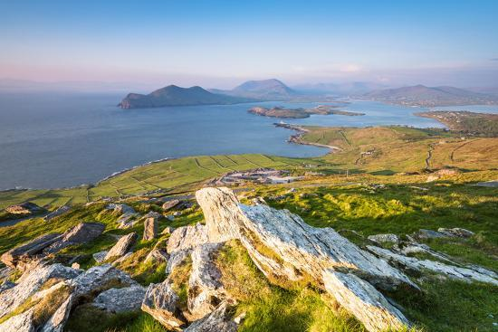 Valentia island (Oilean Dairbhre), County Kerry, Munster province, Ireland, Europe. View from the G-Marco Bottigelli-Photographic Print