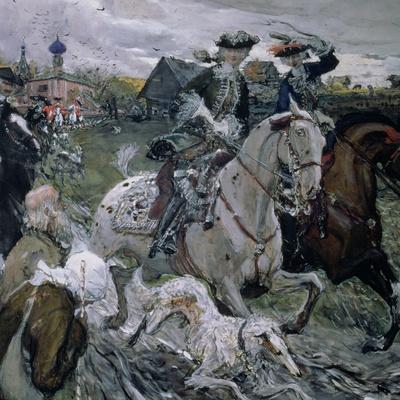 Peter II (1715-30) and the Tsarevna Elizabeth (1709-62) Hunting, 1900