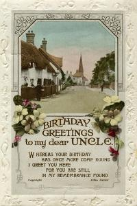 Birthday Greetings to My Dear Uncle, Birthday Card, C1940 by Valentine