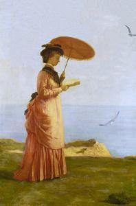 Lady with Parasol Reading, Isle of Wight (Emily Prinsep) by Valentine Cameron Prinsep