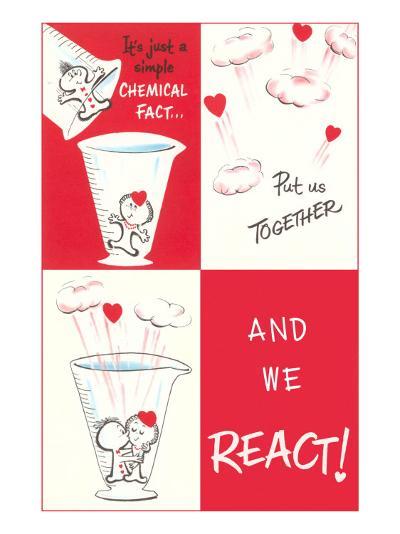 Valentine Cartoon, Chemical Reaction--Art Print