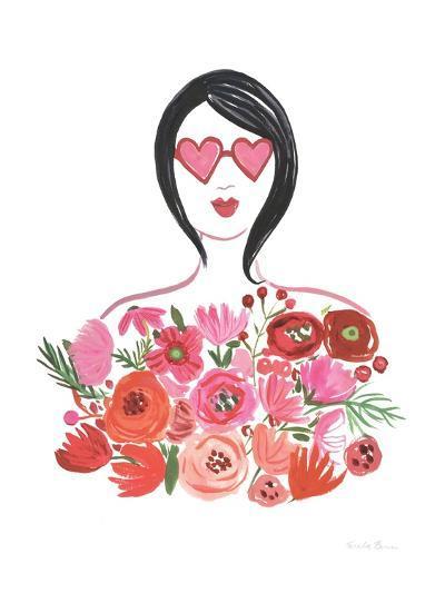 Valentine Chic I no Words-Farida Zaman-Art Print