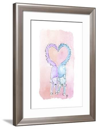 Valentine Dogs-Jennifer Zsolt-Framed Giclee Print