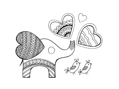 Valentine Elephant-Neeti Goswami-Art Print