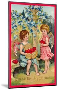 Valentine Greetings, Angels with Hearts