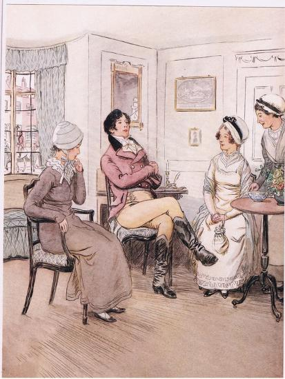 Valentine: I Regret That They are Out, Patty, But I Will Await their Return-Hugh Thomson-Giclee Print
