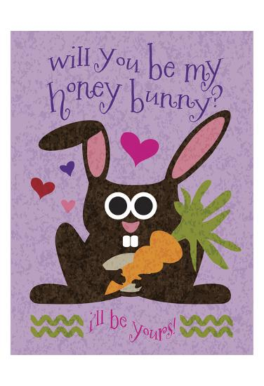 Valentine Rabbit 2-Melody Hogan-Art Print