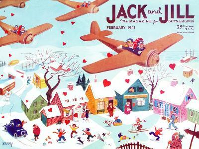 Valentine's  - Jack and Jill, February 1941-Michael Berry-Giclee Print