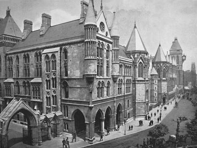 'The New Law Courts, London', c1896
