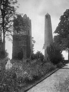 The Round Tower of Swords, Dublin, Ireland, from the East, 1924-1926 by Valentine & Sons