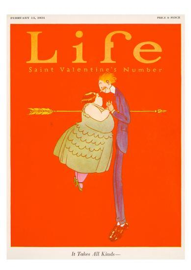 Valentines Day Life Cover--Giclee Print
