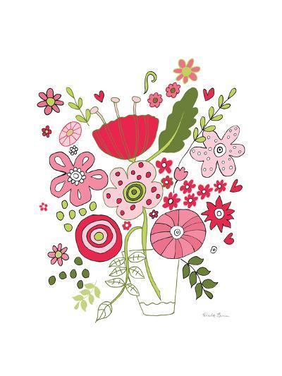 Valentines Flowers IV-Farida Zaman-Art Print