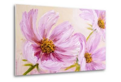 Cosmos-Flowers. Oil Painting