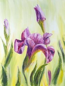 Irises, Oil Painting On Canvas by Valenty