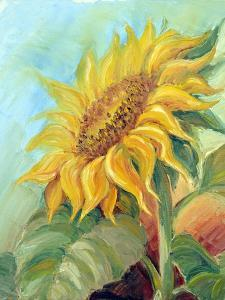 Sunflower, Oil Painting On Canvas by Valenty