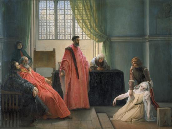 Valenza Gradenico Vor Der Hl, Inquisition-Francesco Hayez-Giclee Print