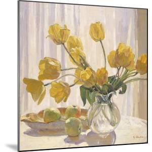Yellow Tulips and Apples by Valeri Chuikov