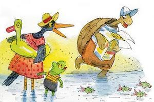 Ted, Ed, and Caroll and the Tiny Fish 2 - Turtle by Valeri Gorbachev