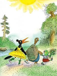Ted, Ed and Caroll are Great Friends - Turtle by Valeri Gorbachev