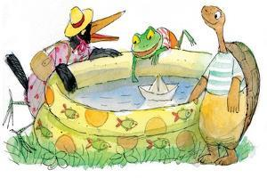 Ted, Ed, Caroll and the Swimming Pool - Turtle by Valeri Gorbachev