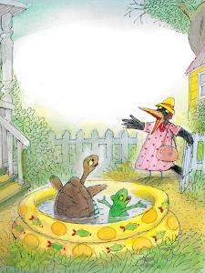Ted,Ed, Caroll and the Swimming Pool - Turtle by Valeri Gorbachev