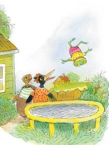 Ted, Ed, Caroll and the Trampoline - Turtle by Valeri Gorbachev