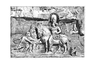 Valerian at the Feet of Sapor, Royal Tombs at Naksh-I-Rustem, Persepolis, Iran, 1895--Giclee Print