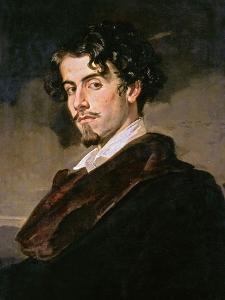 Portrait of Gustavo Adolfo Becquer, 1862 by Valeriano Becquer