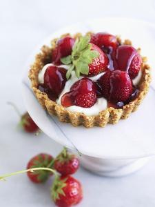 Strawberry Shortcake with Cream by Valerie Janssen