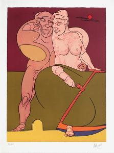 Picasso et la Femme Neoclassique by Valerio Adami