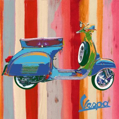 "Paper Print Poster Vintage painting Vespa Italy Bike Model art Canvas Framed 24/"""